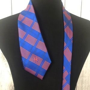 MLB New York Mets Blue & Orange Woven Neck Tie